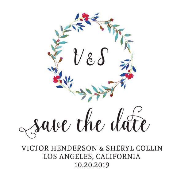 Save the Date Wedding Postcard. Wedding Calendar Save the Date, Vintage Wedding Save the Date Cards- Nature Design