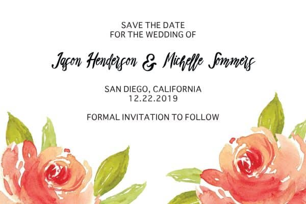 Wedding Save the Date Postcards for Weddings, Invitation Card, Wedding Announcement, Marriage Calendar- Floral Bloom Design