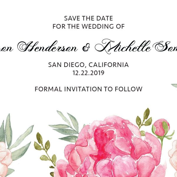 Wedding Save the Date Postcards for Weddings, Invitation cards, Wedding Announcement, Marriage Calendar- Blooming Garden Theme