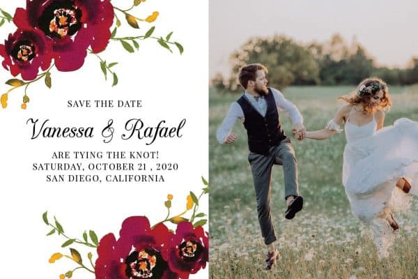 Stunning Save the Date Postcards with a Photo, Wedding Save the Date Postcards, Save the Date Cards, Calendar Save the Date