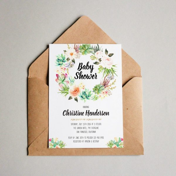 Baby Shower Invitations, Baby Shower Card, Baby Shower Invites