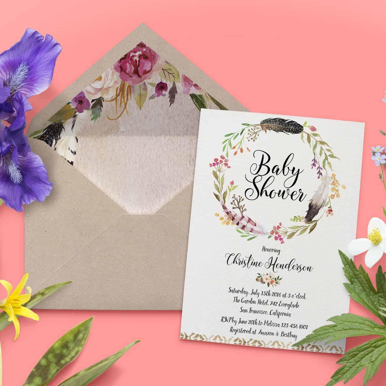 Baby Shower Invitations, Baby Shower Card, Baby Shower Invites