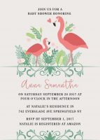 Woodland Baby Shower Invitations Floral Baby Shower Card Baby