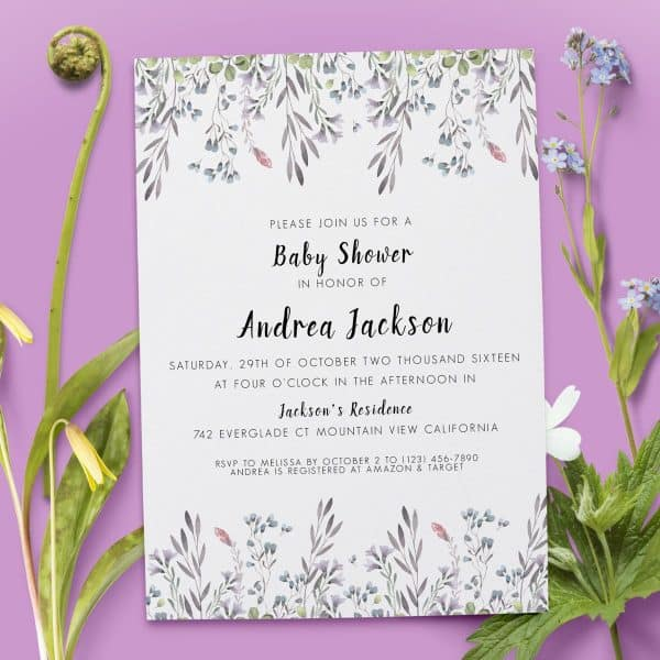 Spring Party - Baby Shower Party Invitation Cards