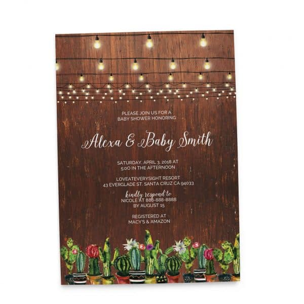Rustic Baby Shower Invitation Cards, Baby Shower Card, Baby Shower Invites, Greenery Cute Baby Shower Invitation Card, Printable babyshower59