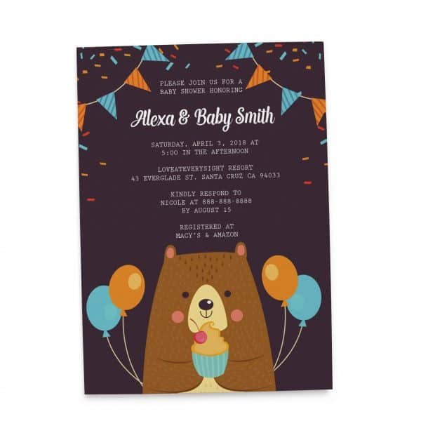 Cute Baby Shower Invitation Cards, Baby Shower Card, Baby Shower Invites, Cute Baby Shower Invitation Card, Printable