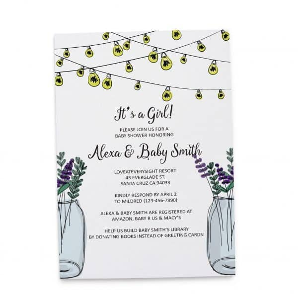 Rustic Baby Shower Invitation Cards, Printable Baby Shower Card, Unique, Simple, Gender Neutral Baby Shower Invitation Cards