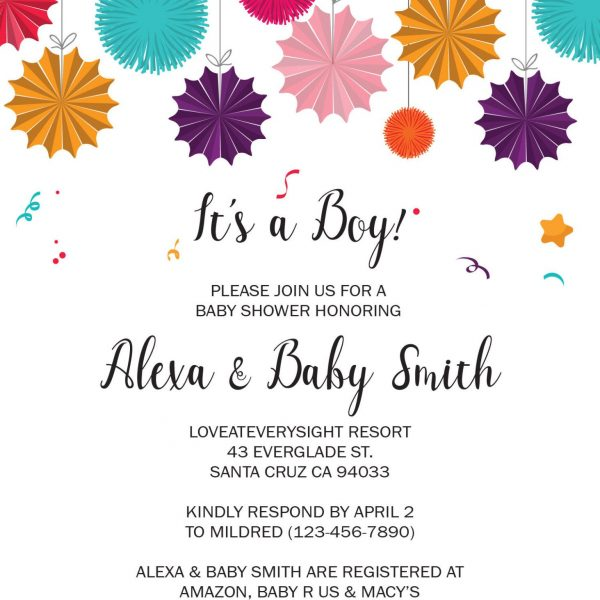 Baby Shower Invitation Cards, Printable Baby Shower Card, Unique, Simple, Gender Neutral Baby Shower Invitation Cards