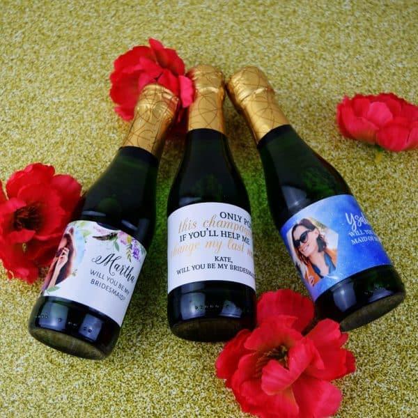 Personalized Mini Champagne Labels