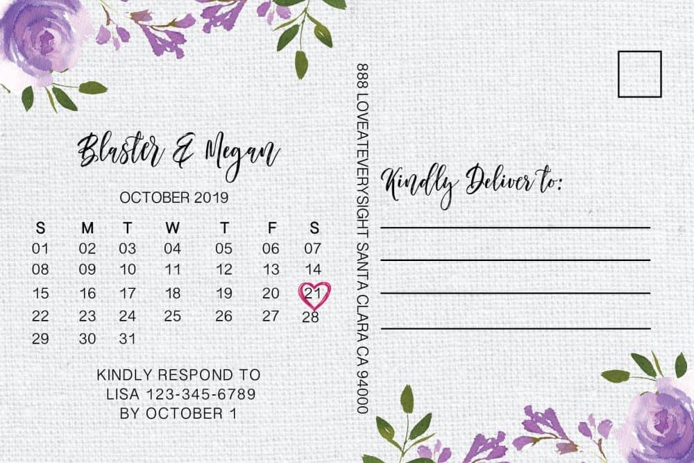 Wedding Reception Invitation Postcards by LoveAtEverySight