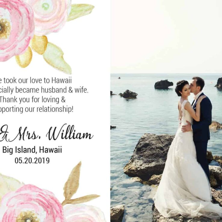 Elopement Announcement Postcards, We Eloped Postcards, Add Your Own Photo