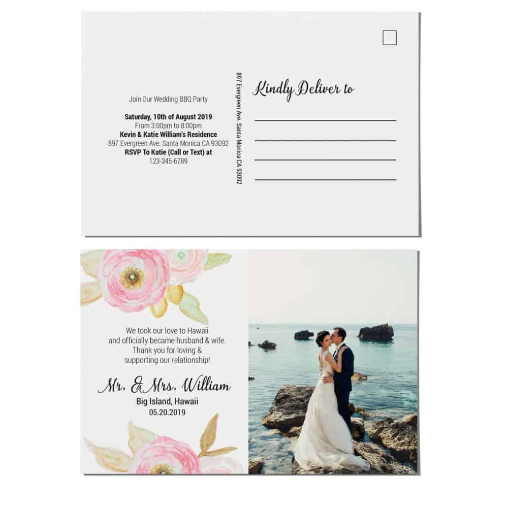 Elopement Announcement Postcards, We Eloped Postcards, Add Your Own Photo elopement95