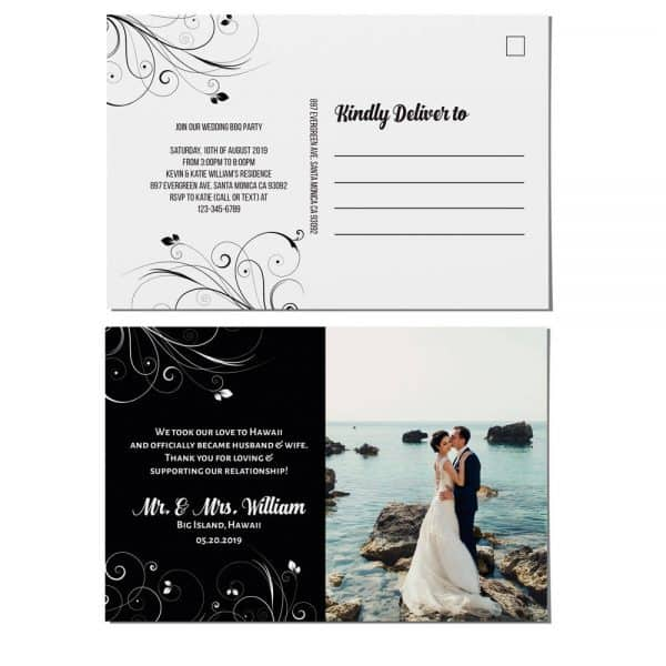 Elopement Announcement Postcards, We Eloped Postcards, Wedding Reception Invitation Postcards, Add Your Own Photo