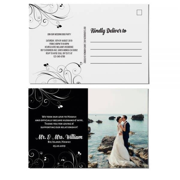 Elopement Announcement Postcards, We Eloped Postcards, Wedding Reception Invitation Postcards, Add Your Own Photo elopement96