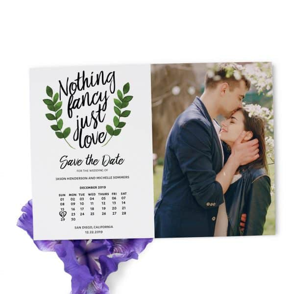 Nothing Fancy Just Love Save the Date Wedding Cards, Add Your Own Photo