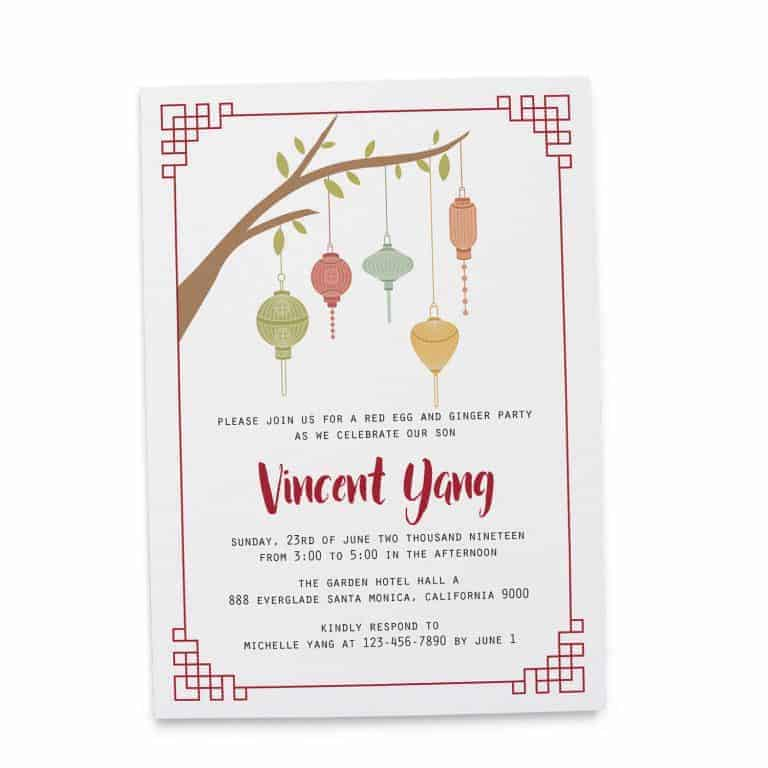Rustic Red Egg and Ginger Invitation Cards