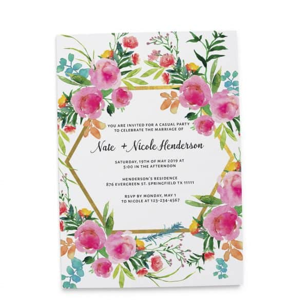 Elopement Reception Party Invitations, Casual Elopement Wedding Reception Cards, Printed and Printable Wedding Party Card #105