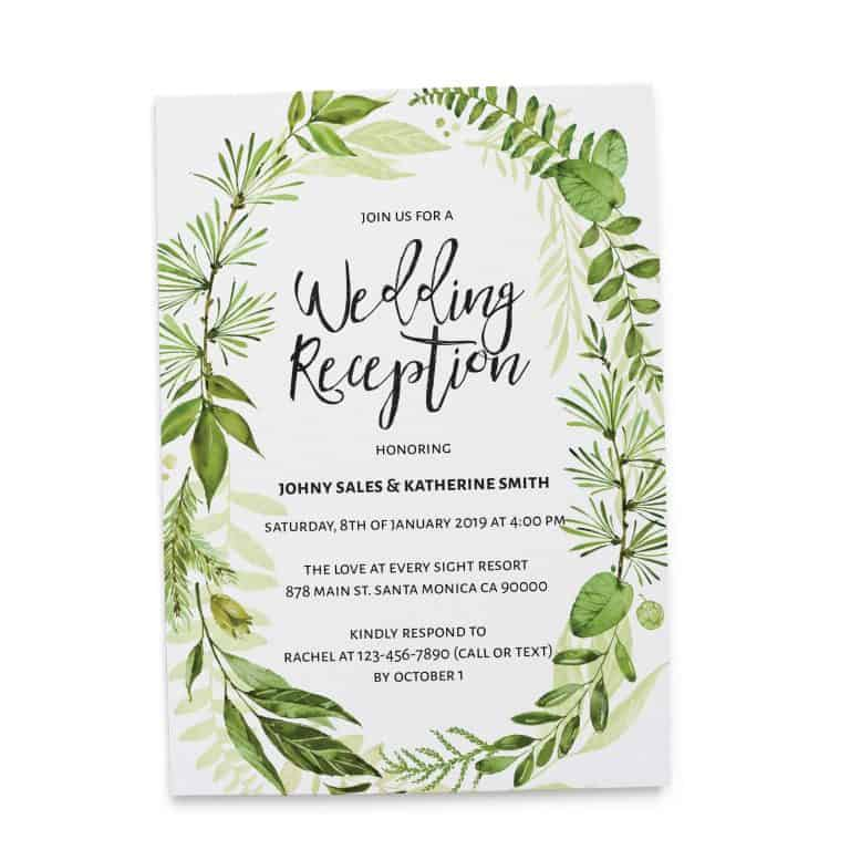 Elegant Elopement Reception Invitation Cards for Casual Party, BBQ Party Elopement Wedding Reception Invitation Cards elopement119