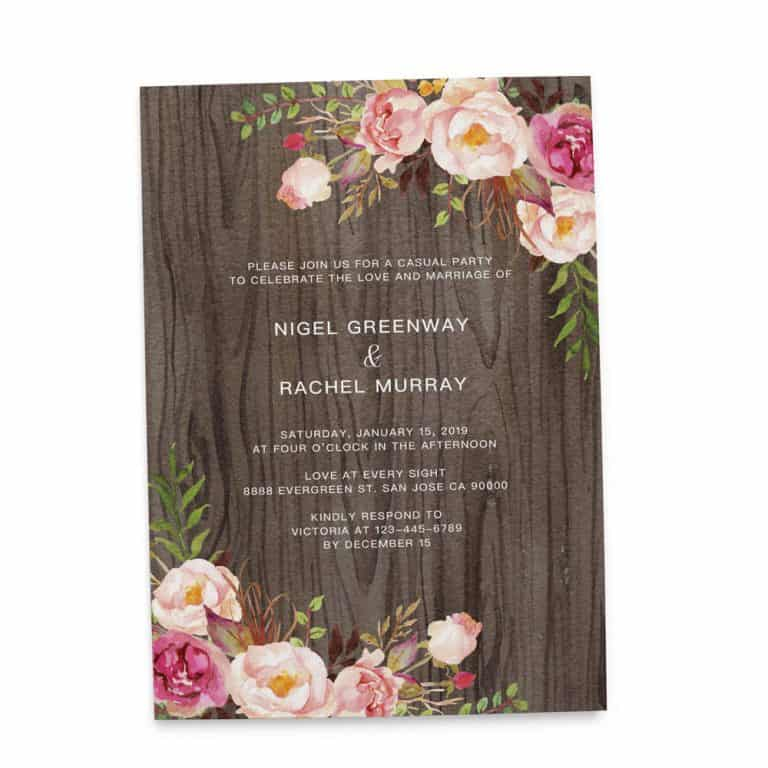 Rustic Elopement Reception Invitation Cards, Wedding Reception Invitations, Rustic Invitation Card elopement214