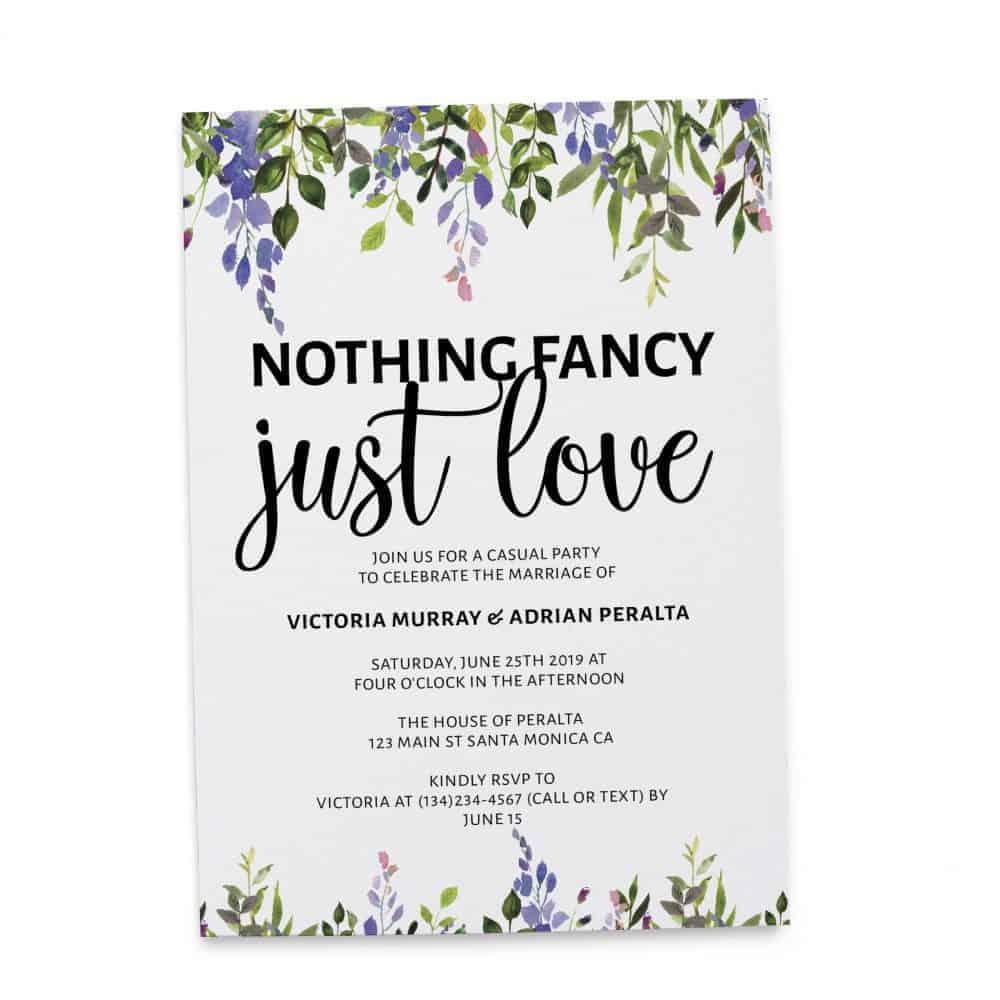 Elopement Announcement Cards, Wedding Announcement Cards, Printed and Printable Elopement Announcement Cards - Colorful Leaves Design elopement268