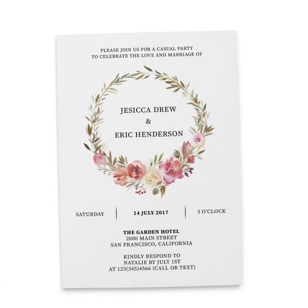 elopement reception invitations loveateverysight
