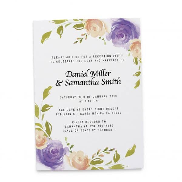 Wedding Invitation Cards Printed and Printable, Wedding Announcement Cards, Marriage Announcement Cards - Fresh Floral Design