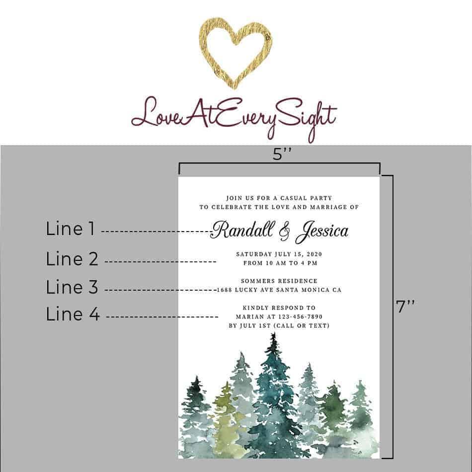 Fresh Wedding Reception Cards, Post Wedding Party Celebration, Joyful Invitation for You Card, Impressive Nature Leaves