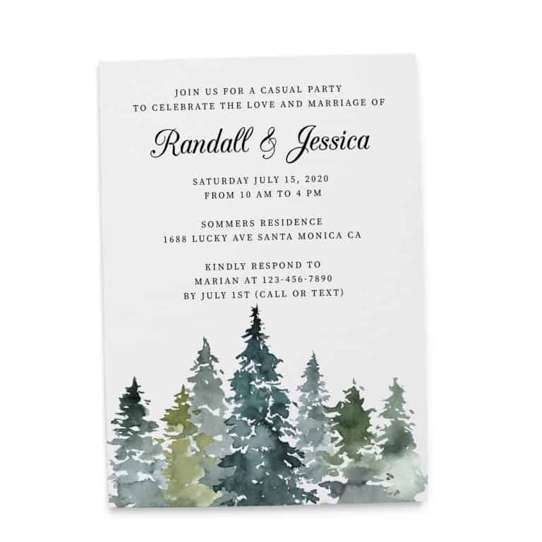Fresh Wedding Reception Cards, Post Wedding Party Celebration, Joyful Invitation for You Card, Impressive Nature Leaves