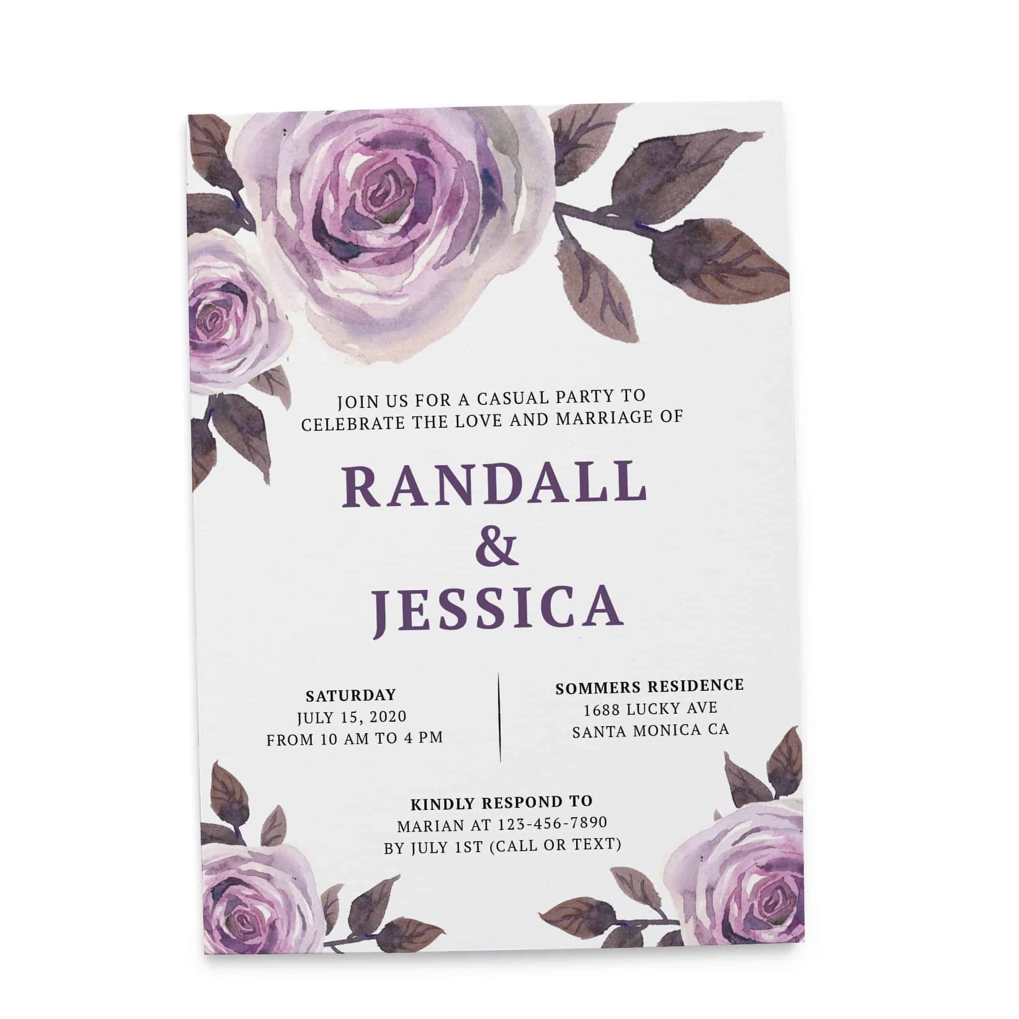 Casual Wedding Reception Floral Cards - Marriage Reception Card, Just Send us Your Details , Bright Floral Design