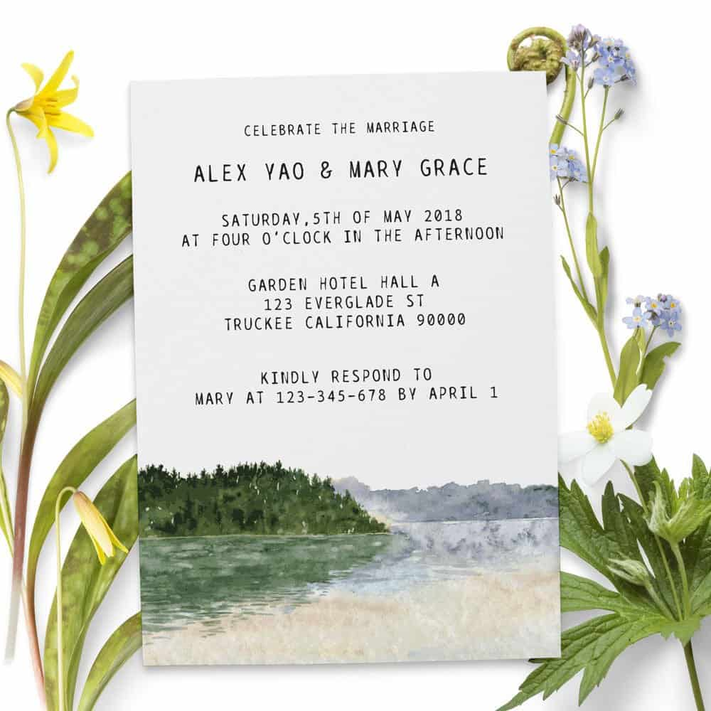Elopement Reception Invitations, Wedding Reception Cards, Printed and Printable Wedding Party Card, Party Invitations E79
