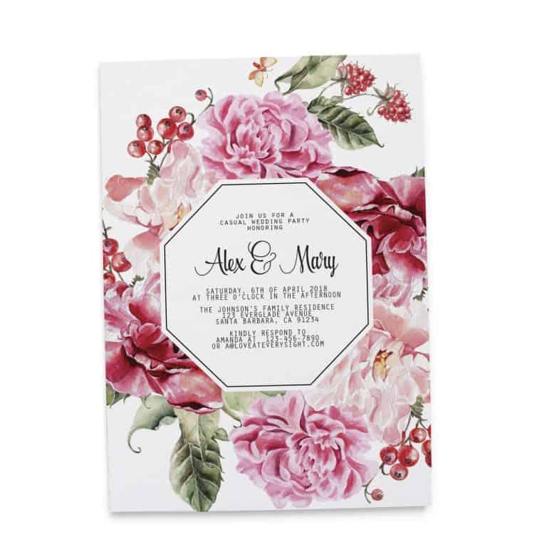 Vintage Wedding Reception Casual BBQ Party Invitation Cards, Elopement Reception Cards elopement87-2