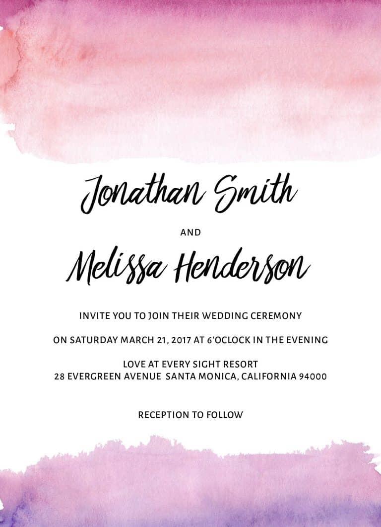 Pink Watercolor, Wedding Invitation Cards with RSVP postcards Branches, Wedding Invitations, Wedding Sakura
