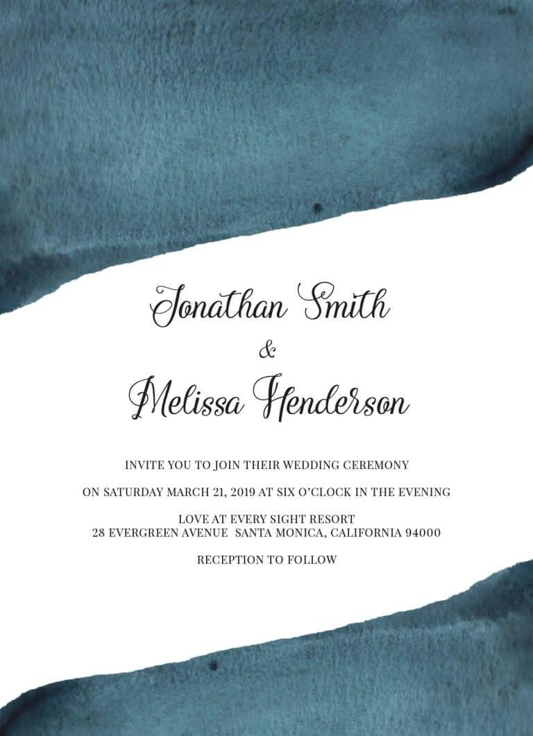 Blue Magic, Wedding Invitation Cards with RSVP postcards Branches, Wedding Invitations, Spring Wedding
