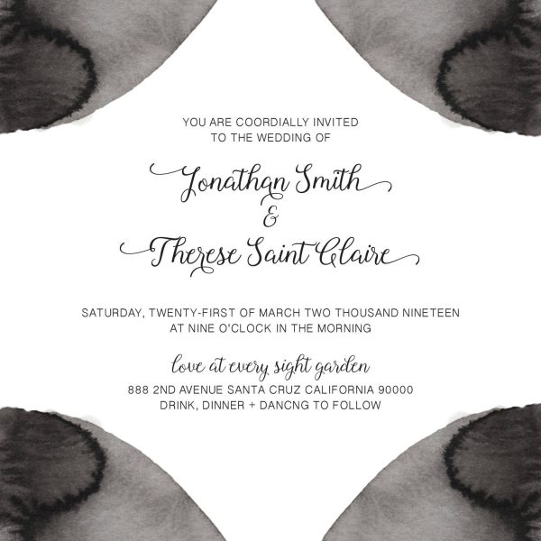 Black&White, Wedding Invitation Cards with RSVP postcards Branches, Wedding Invitations, Spring Wedding