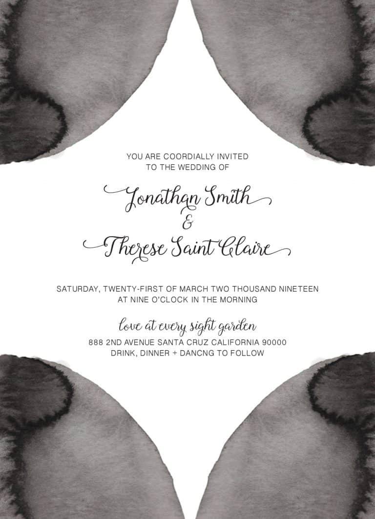 Black&White, Wedding Invitation Cards with RSVP postcards Branches, Wedding Invitations, Spring Wedding
