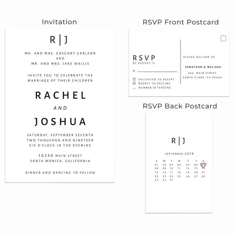 Simple & Plain, Wedding Invitation Cards with RSVP postcards Branches, Wedding Invitations, Wedding Sakura, Cheap Wedding Invitations
