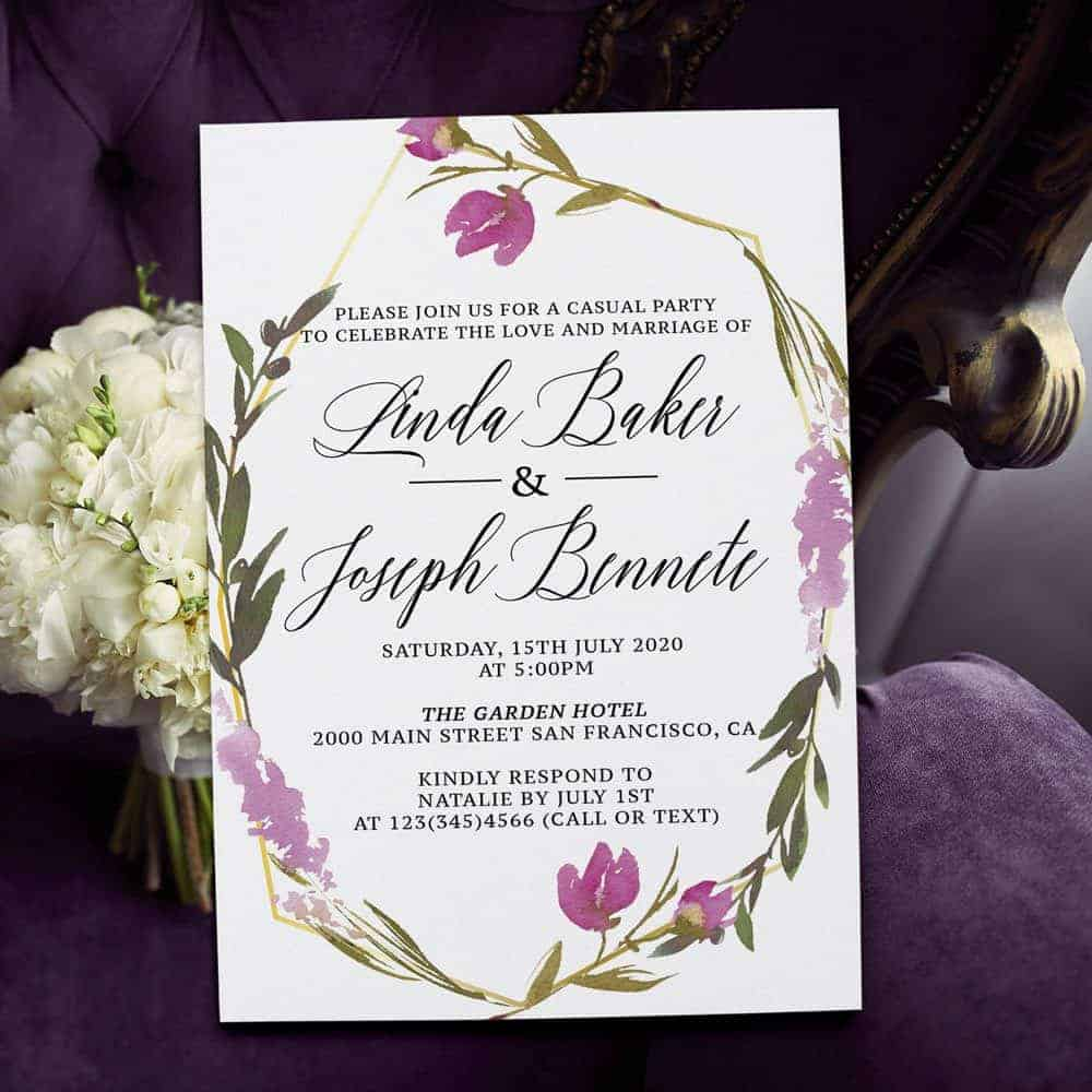 Lavender and Purple Floral Spring Garden Wedding Reception elopement361