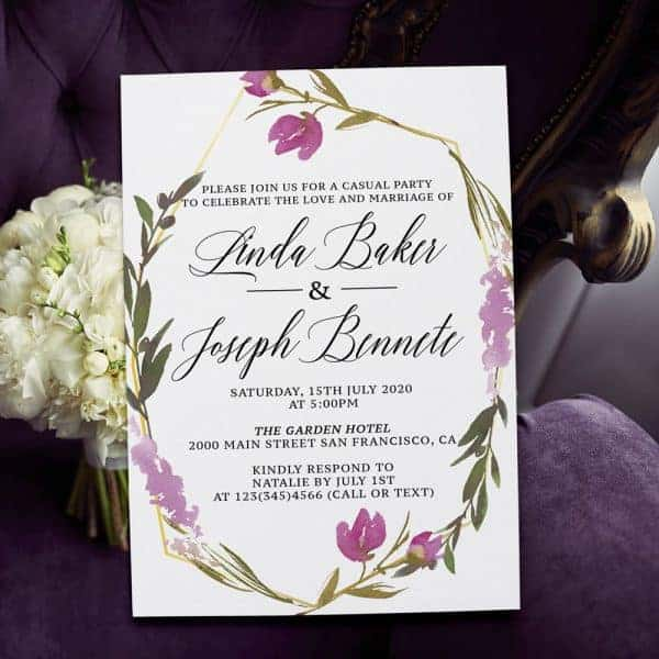Lavender and Purple Floral Spring Garden Wedding Reception elopement361