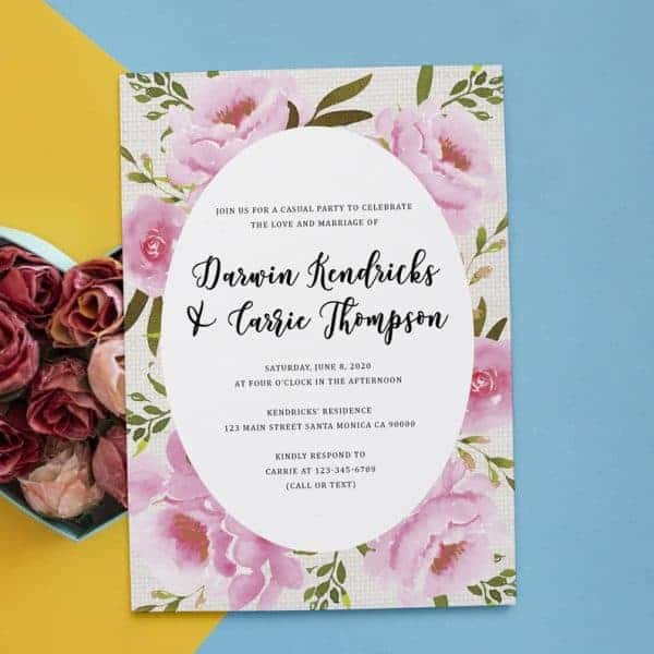 Rustic Reception invitation