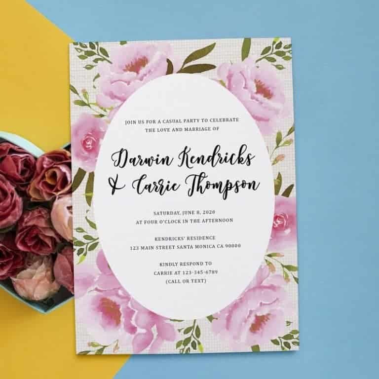 Rustic Reception invitation