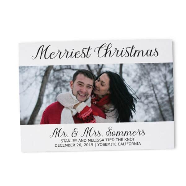 Merriest Christmas Elopement Announcement Cards, Christmas, Holiday Wedding Elopement Card, Announcement Cards elopement216