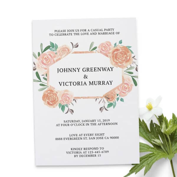 Celebrate Our Love and Marriage , Floral Elopement Announcement Cards, Wedding Elopement Card, Marriage Announcement Cards elopement240