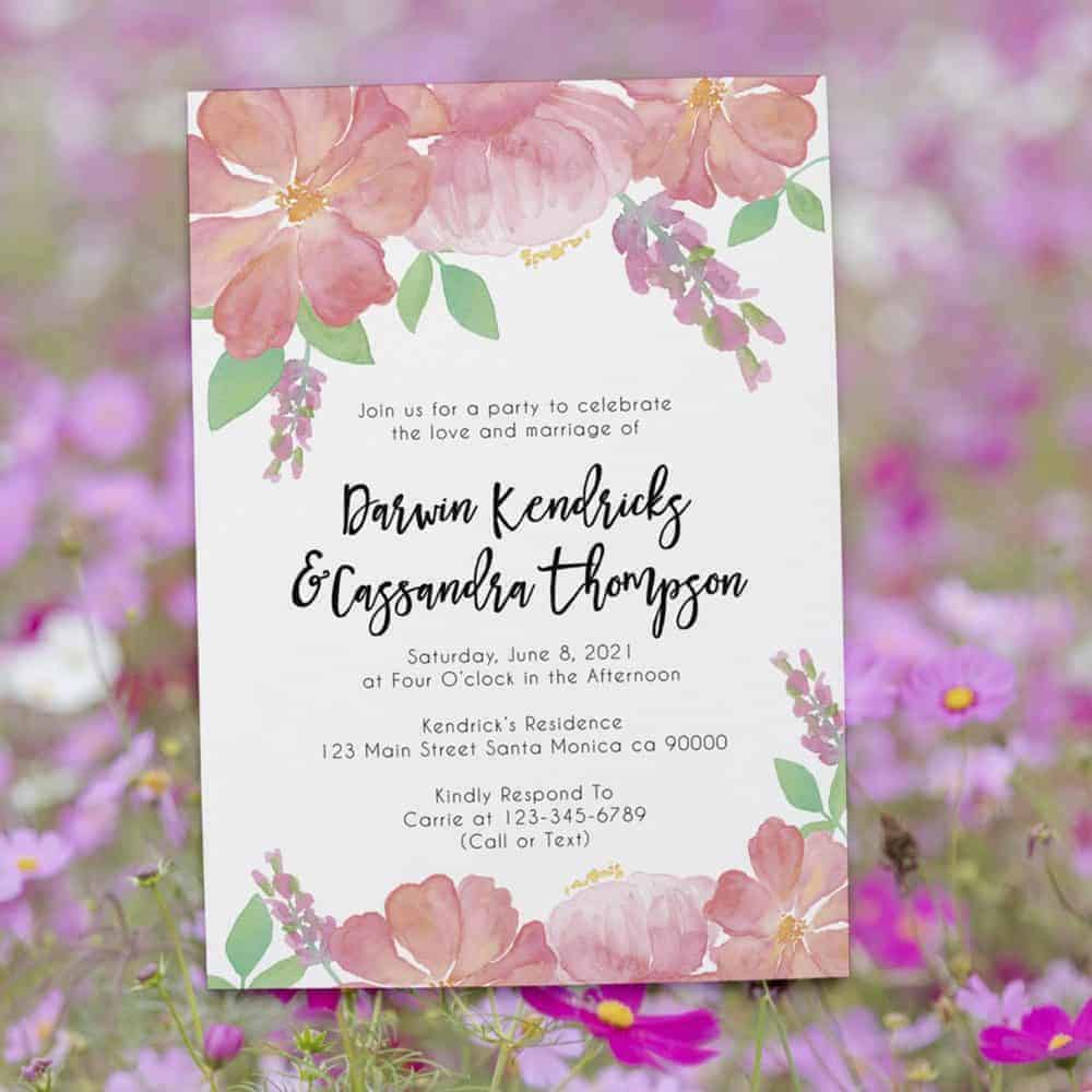 Just Married Watercolor Galaxy Elopement Announcement Cards, Wedding Elopement Card, Announcement Cards elopement389