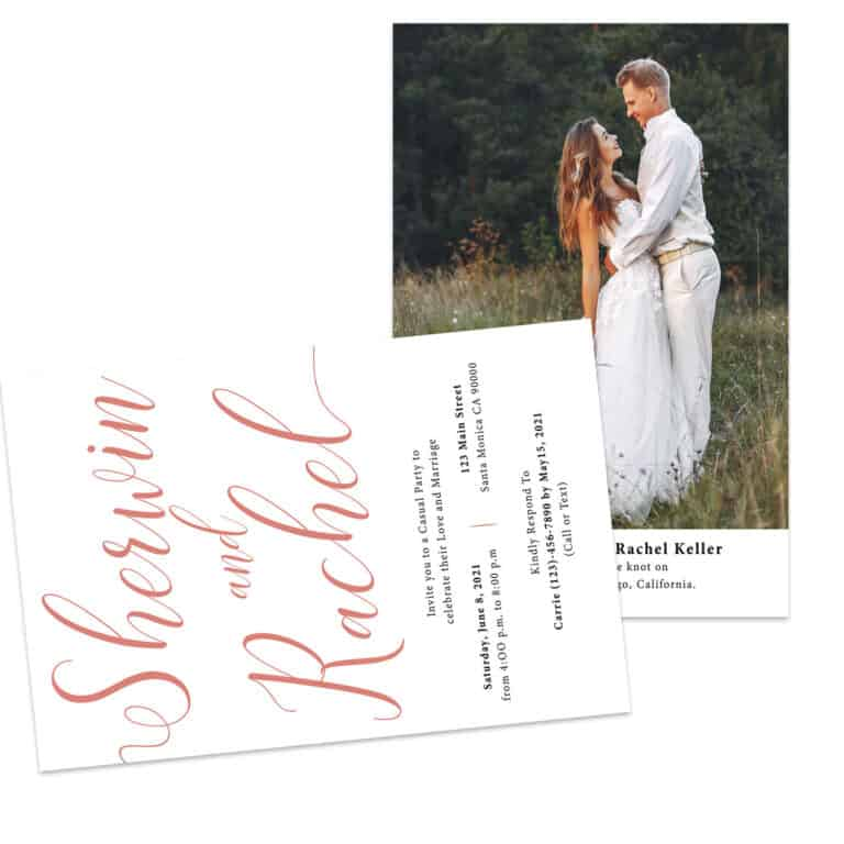 Simple Reception Card,Elopement Reception Invitation Cards, Wedding Reception Invitations, #446