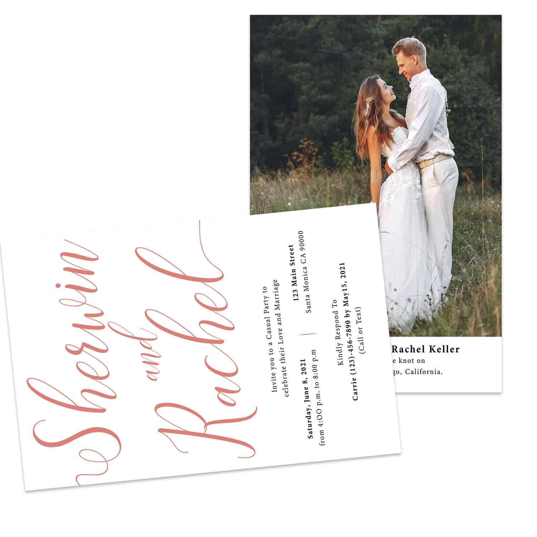 Simple Reception Card,Elopement Reception Invitation Cards, Wedding Reception Invitations, #446