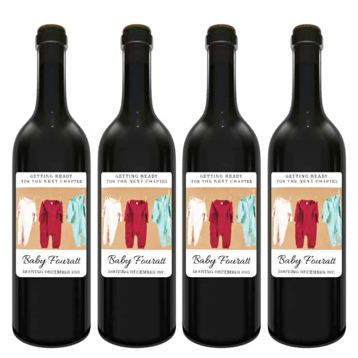 Unique custom pregnancy announcement wine labels bwinelabel201