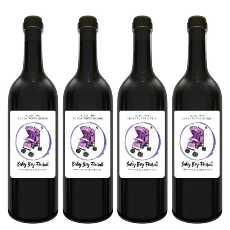 & so the adventures begin pregnancy wine labels bwinelabel205