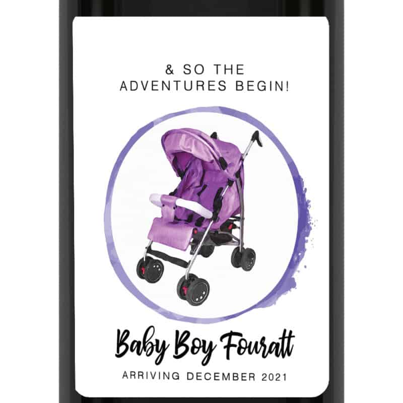 & so the adventures begin pregnancy wine labels bwinelabel205