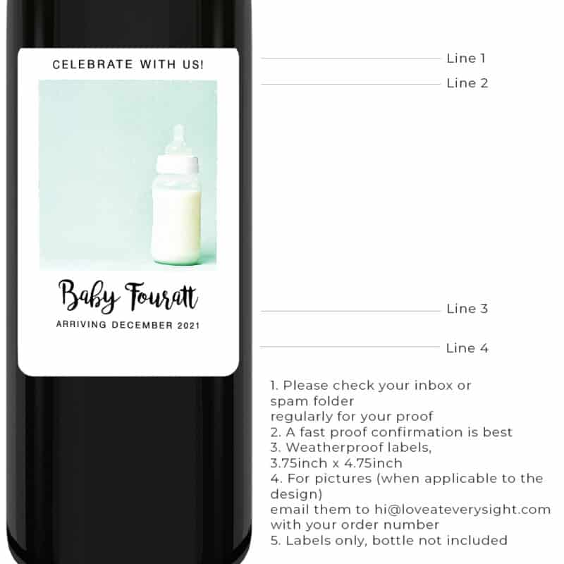 Celebrate with us pregnancy announcement wine lables bwinelabel206